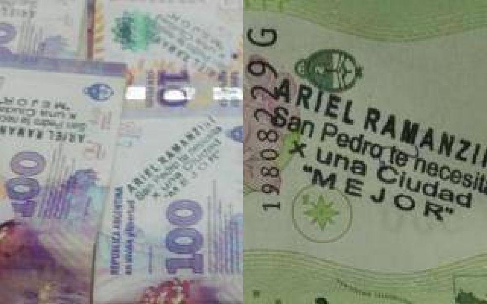 Candidato de Massa denuncia campaña sucia: Comenzaron a circular billetes con su nombre