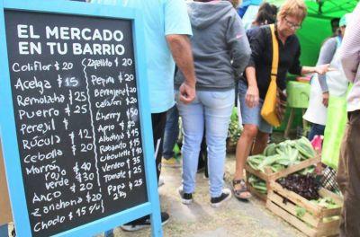 Buenos precios: El Mercado en Tu Barrio llega a la plaza Hipólito Yrigoyen de Quequén