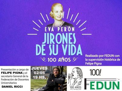 A 100 años de su nacimiento, se presentará un documental de Eva Perón