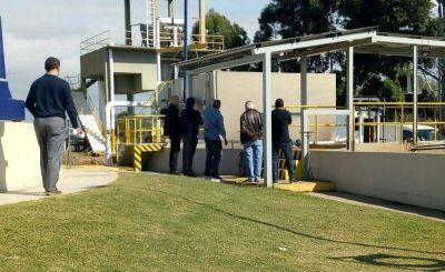 Avanzan las obras en la nueva planta de tratamiento cloacal de Presidente Perón