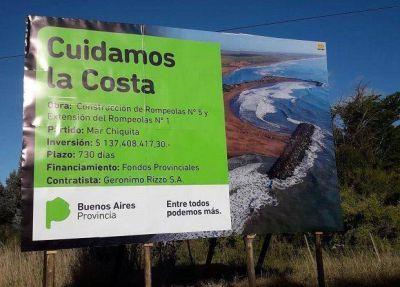 Mar Chiquita: Comenzó la construcción de un rompeolas para cuidar la costa