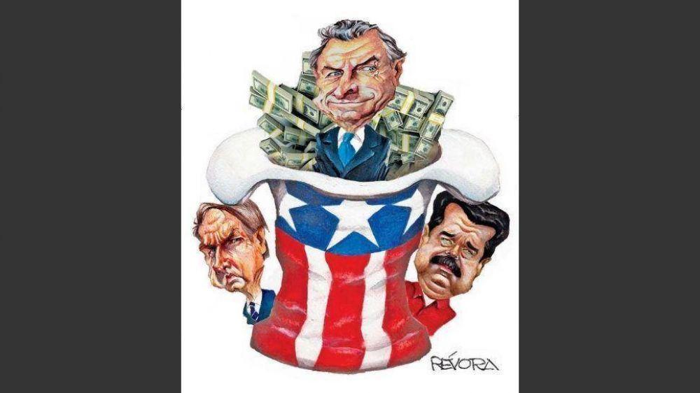 Macri les debe a Maduro y Bolsonaro el salvavidas de Trump contra la corrida