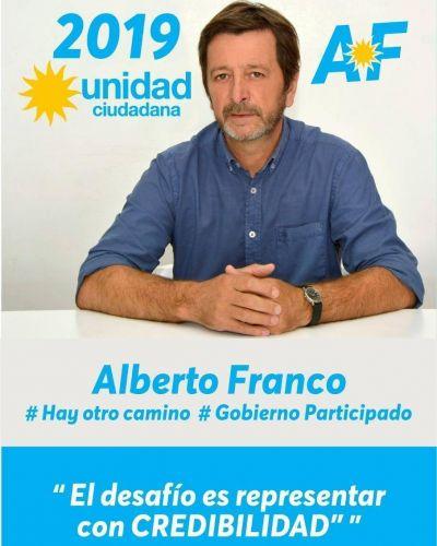 Alberto Franco presentó su precandidatura a intendente