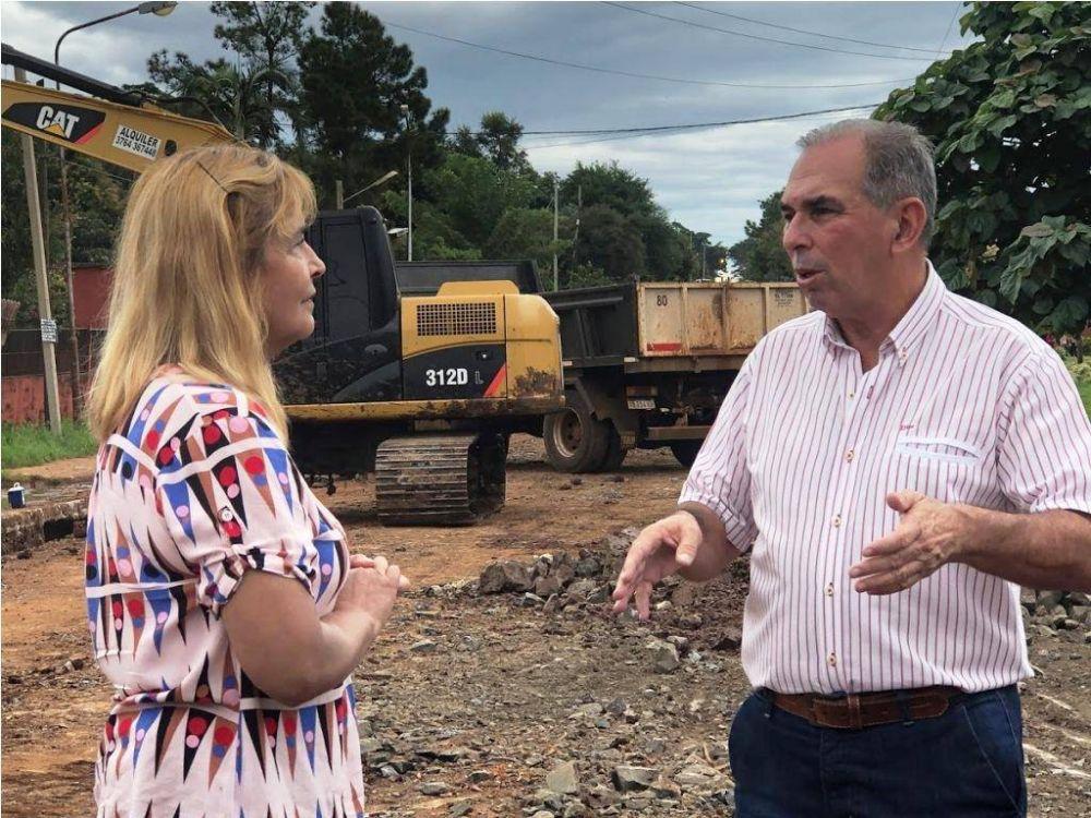 Plan Avenidas en Posadas: avanza la obra hidráulica en Monseñor de Andrea