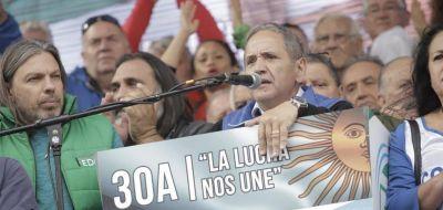 Bullrich denunció penalmente a Palazzo, Yasky, Plaini y los Moyano por la huelga nacional del #30A