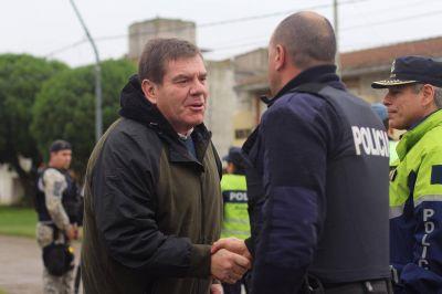 Montenegro supervisó un operativo de saturación en Faro Norte