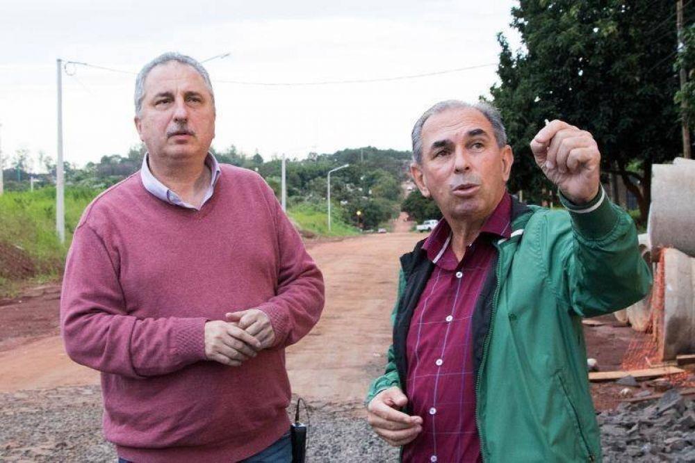 Passalacqua recorrió obras con el titular de Vialidad Provincial, Leonardo Stelatto