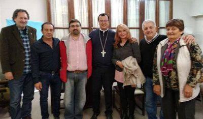 Sectores políticos y gremiales se reunieron con el Obispo por la crisis social de Mar del Plata