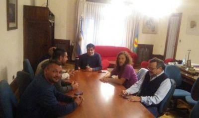 Pago de los sueldos municipales: López se reunió con las principales autoridades de ATE provincia