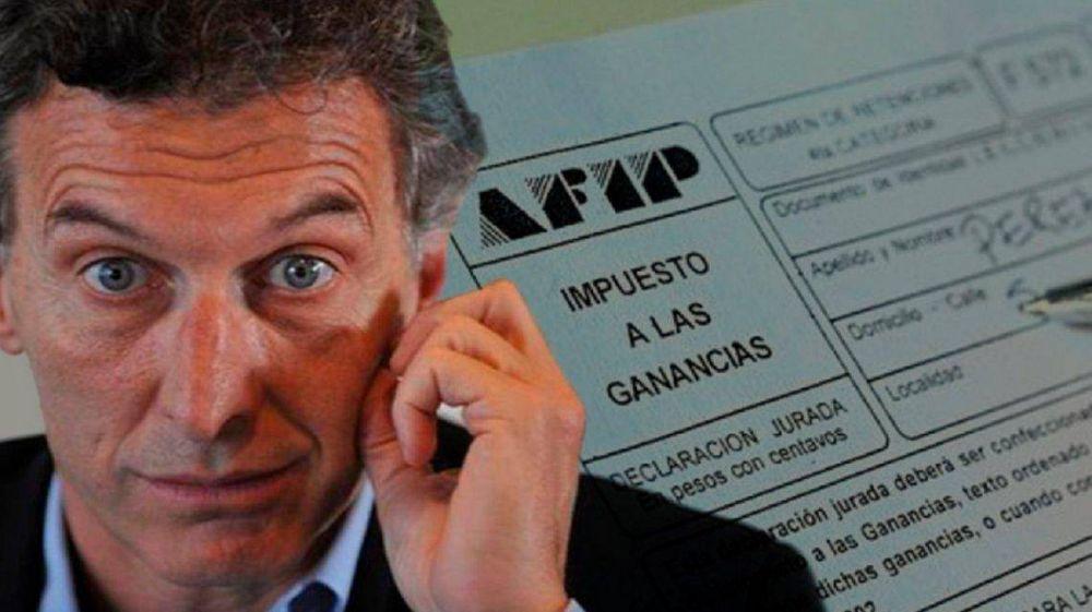 Macri prometió eliminar Ganancias pero cada vez más trabajadores pagan el impuesto