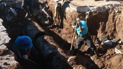 Seis barrios se quedaron sin agua por una nueva rotura del acueducto