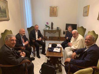 Stiglitz le llevó al papa Francisco su compromiso para trabajar con Scholas