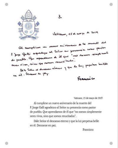 Presentación del libro Salvados por Francisco y homenaje al Padre Jorge Galli
