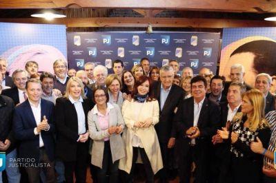 Cristina Fernández volvió a la sede del PJ Nacional y habló de formar un frente patriótico