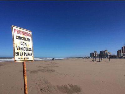 Prohibieron la circulación de vehículos por sectores de la playa los 365 días del año
