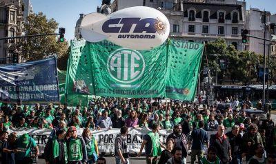 La CTA Autónoma la sumará 12 horas a la huelga general y parará desde el 28 de mayo