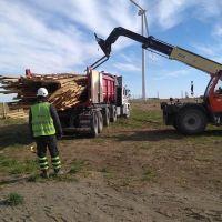 En Pehuen Có construirán mobiliario urbano con madera del parque eólico