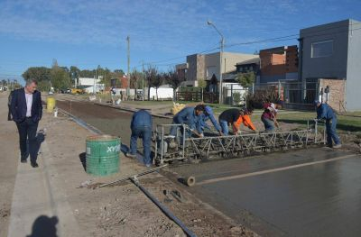 Avanza importante obra de conectividad vía en Bahía Blanca