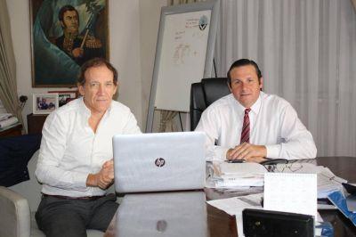 Obras en Dolores: Etchevarren se reunió con el Director Provincial de Hidráulica