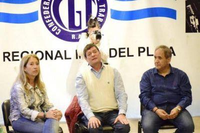El bancario Sergio Palazzo se reunió con dirigentes de la CGT Regional Mar del Plata