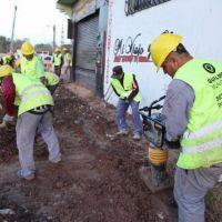 Martiniano Molina recorrió una importante obra de cloacas que beneficiará a 900 vecinos