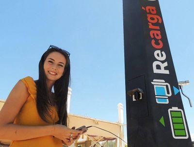 """Buscan instalar """"cargadores solares"""" para dispositivos móviles en la Ciudad2"""
