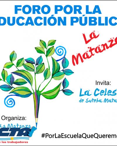Foro por la educación pública en La Matanza