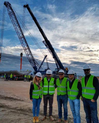 En Tornquist avanzan las obras de construcción del Parque Eólico