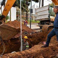 San Fernando lleva adelante una importante obra hidráulica en la calle Belgrano