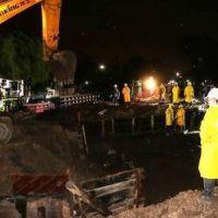 San Isidro comenzó con el montaje de los puentes ferroviarios del túnel de Sarratea