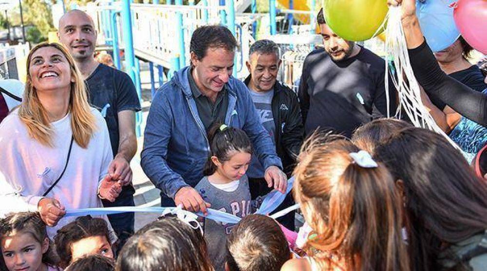 Sujarchuk inauguró la remodelación de la plaza Néstor Kirchner en La Chechela
