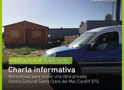 Mar Chiquita: charla informativa sobre normativas vigentes para iniciar una obra privada