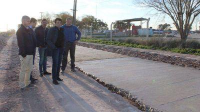 Tras el convenio con Provincia, López se refirió a las obras de pavimentación