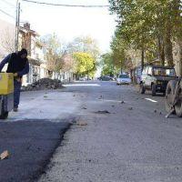 Avance del municipio con obras de bacheo en importantes puntos de Necochea y Quequén