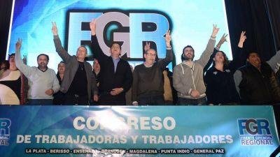 Unos 30 sindicatos se reunieron en La Plata para respaldar la fórmula Alberto-Cristina