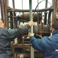 San Luis Agua refuncionalizó la perforación que abastece la planta potabilizadora de La Calera