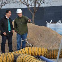 El municipio recorre las obras cloacales