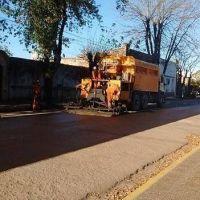 Las Flores: Finalizó la repavimentación y arreglo de calles céntricas y semicéntricas