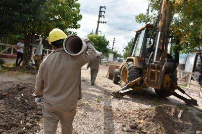 AySA avanza con las obras de cloacas en el partido de Tigre