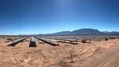 El mes próximo estará terminado el parque solar que se construye en Cafayate