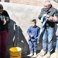 Inauguraron una red de agua potable en el departamento Rosario Vera Peñaloza