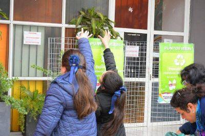 Intensifican las acciones ambientales e instalan punto verde en el San Gerónimo