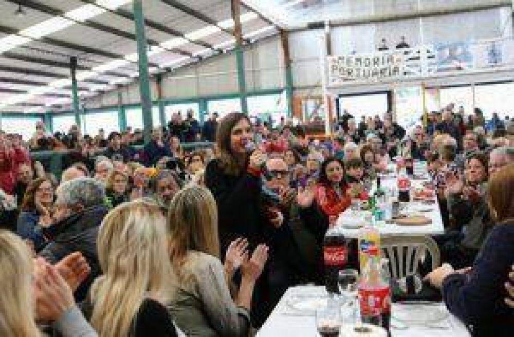 Almuerzo de Raverta con portuenses marplatenses, al que asistieron más de 2.300 personas