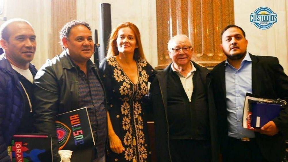 Premian al gremio de los Custodios en el Senado de la Nación