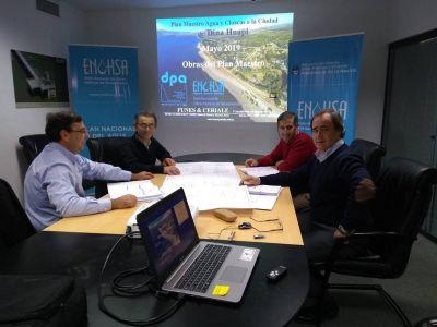 Restan los últimos detalles para avanzar con el plan maestro de aguas y cloacas para Dina Huapi