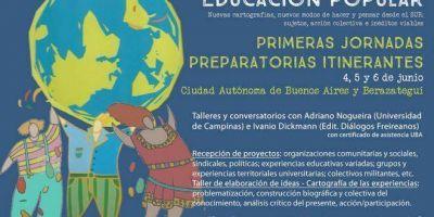 FEDUN invita a las primeras jornadas del Foro Social de la Educación Popular
