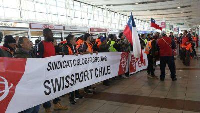 Chile: ITF se solidarizó con la huelga de trabajadores de Swissport en aeropuerto de Santiago