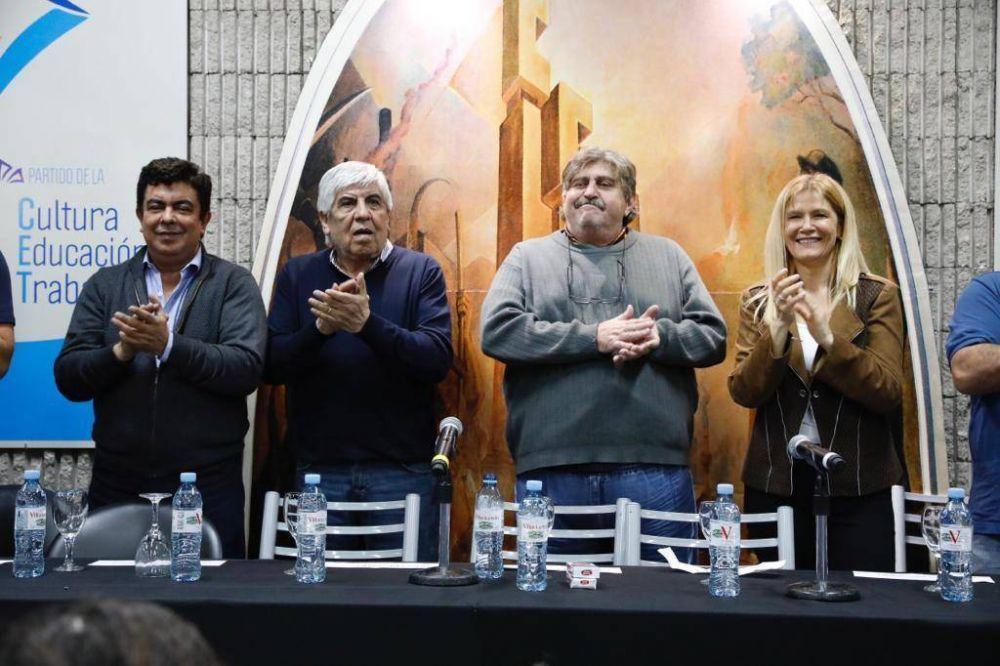 En SMATA, con Espinoza y Magario, Moyano lanzó su espacio político