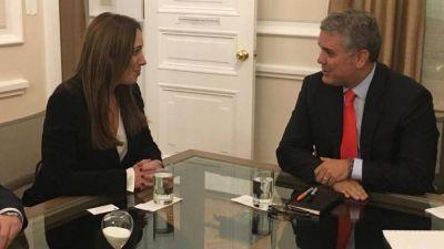 Vidal se reunió con el presidente de Colombia y consiguió apoyo para Macri