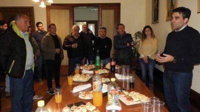 En el Día del Periodista, López agasajó a la prensa en el despacho comunal